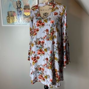 Mossimo long sleeve floral shift dress